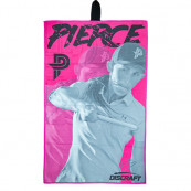 Discraft Disc Golf Håndklæde - Paige Pierce - Front - Sort/lyserød